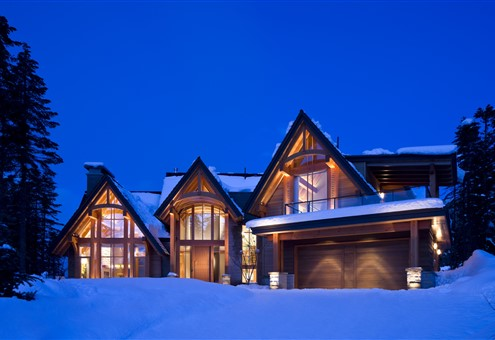 Exterior of the Private Residence Whistler Canada