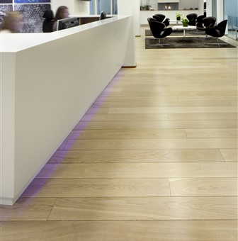 Hakwood Unfinished flooring at reception space