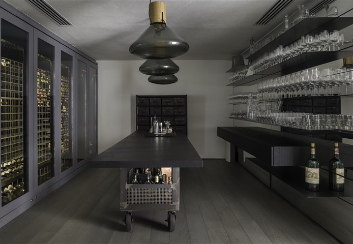 Hakwood Mineral flooring in wine bar