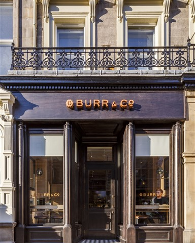 Exterior of the Burr & Co Café