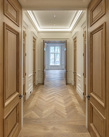 Hakwood Honest flooring in hallway