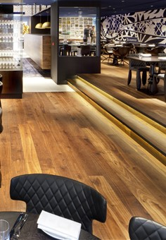 Hakwood Genuine flooring in seating area