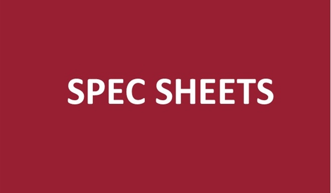 Spec sheets now available in 6 languages