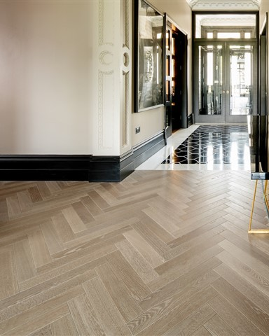 Hakwood Drift flooring in central space