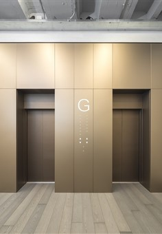 Hakwood Mineral Flooring with elevator