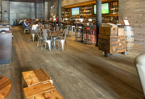 Hakwood Chiaro flooring in bar area