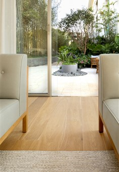 Hakwood serenity flooring with view outwards.