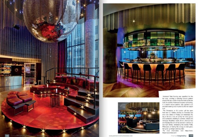 The article about the daring design of the W Hotel London in Premier Hospitality