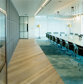 Hakwood Forza flooring in the meeting room