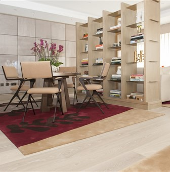 Hakwood Locke flooring with dining table