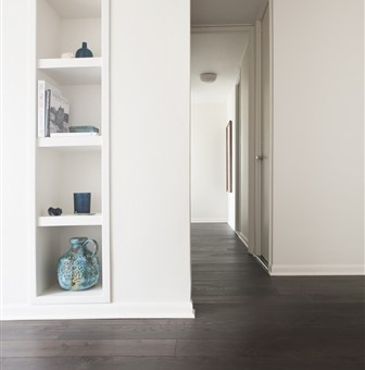 Hakwood Coco Flooring in hallway