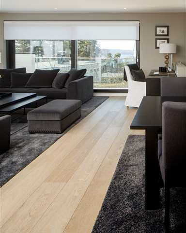 Hakwood Locke flooring in living room