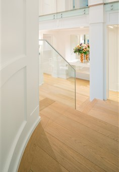 Hakwood Flourish flooring at staircase in hallway