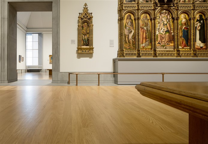 Hakwood Site finished flooring in the hall of the gallery