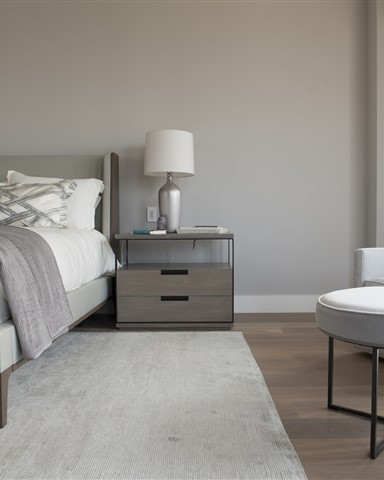 Hakwood Heritage flooring in bedroom - photo credits Paper and Pate Photography