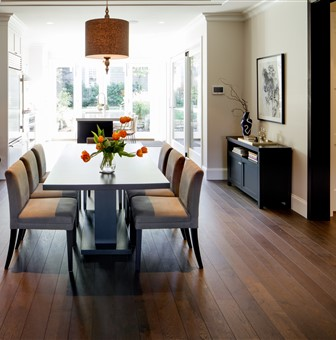 Hakwood Harmony flooring at dining room