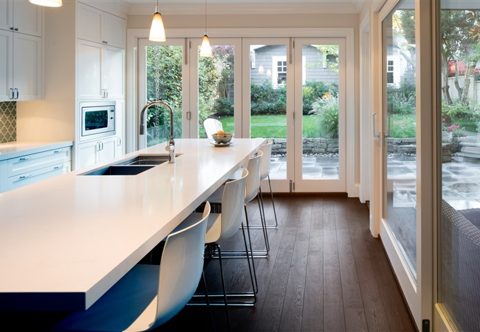 Kitchen contains Hakwood Harmony flooring