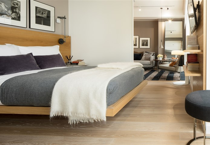 Hakwood Destin flooring in bedroom