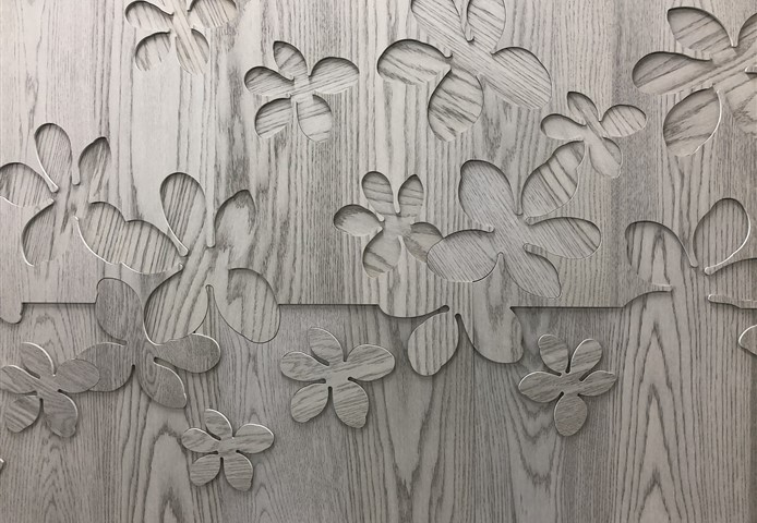 Hakwood Wall Tiles for the New York Holiday House