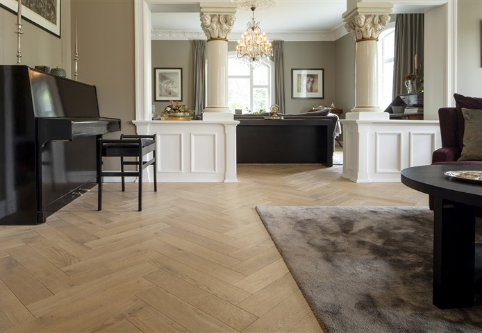 Hakwood Valor flooring in living room with piano