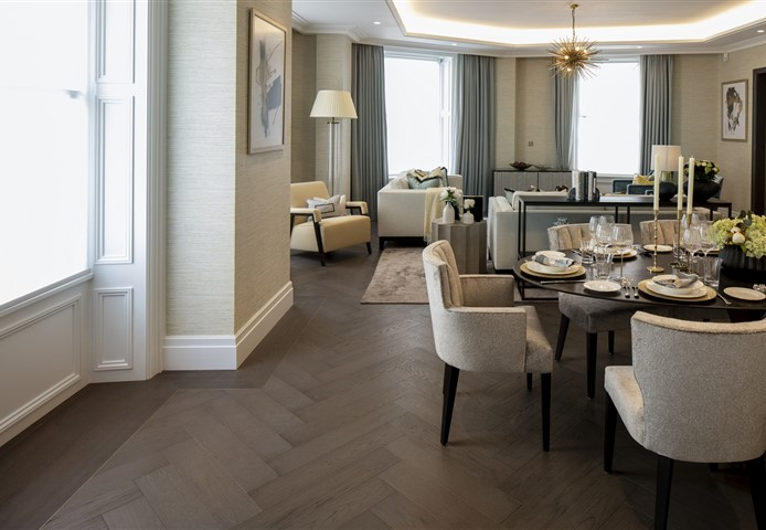 Hakwood Bespoke flooring at dining room