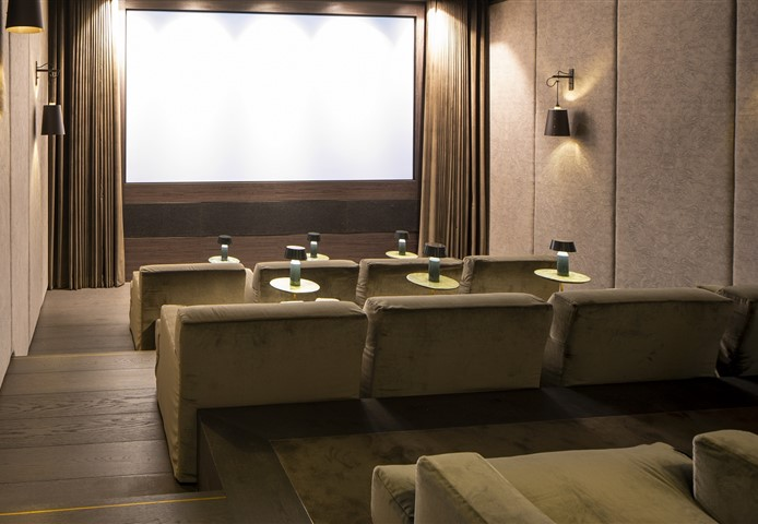Hakwood Bespoke flooring in cinema room