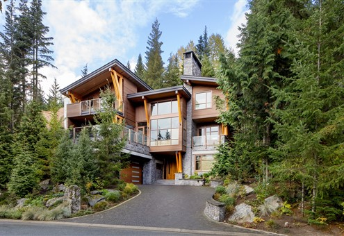 Exterior of Mountain home Canada