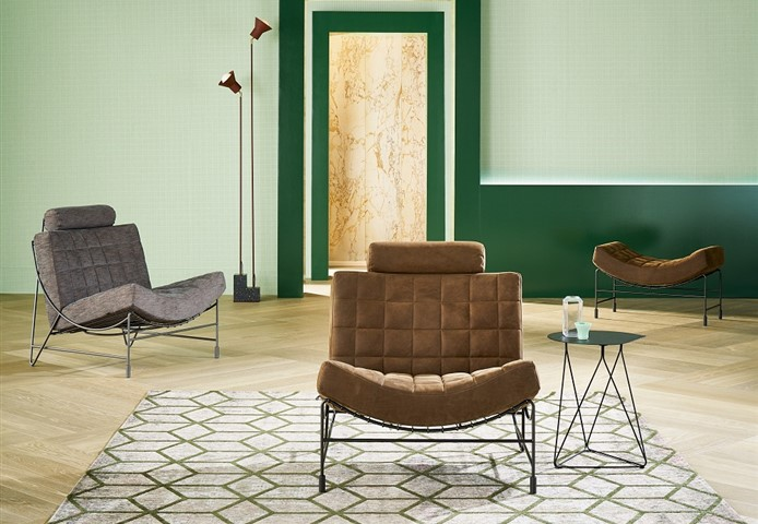 Hakwood Locke flooring with chair and green wall