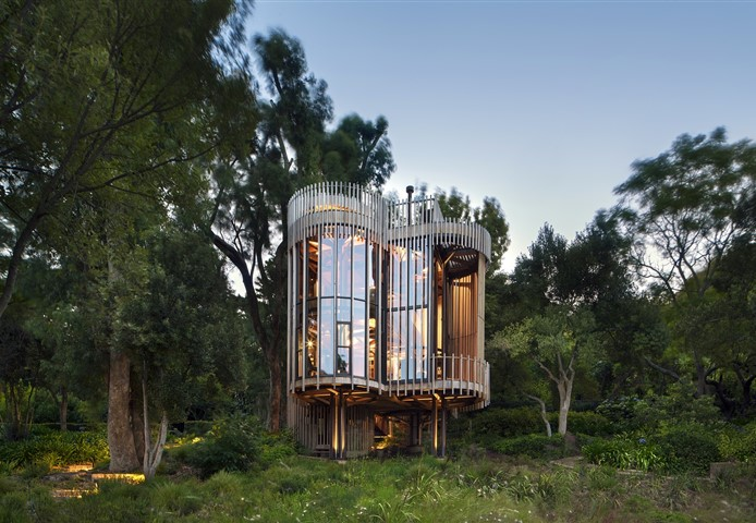 Exterior of the Tree House in Cape Town, South Africa