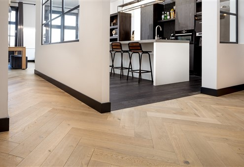 Hakwood Muse and Grimm flooring in kitchen area