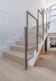 Staircase with Hakwood Locke flooring