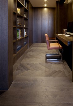 Hakwood Harmony flooring in study area