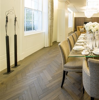 Hakwood Harmony flooring detail at dining erea