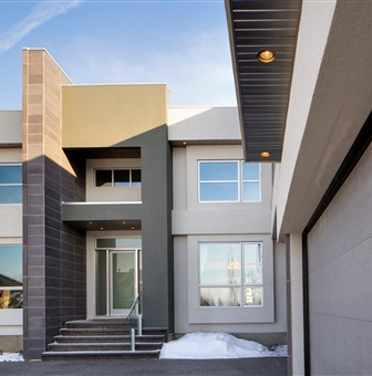 Exterior of the Windemere Showhome in Canada, Edmonton AB