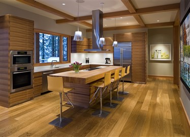 Private Residence Whistler contains Hakwood Bespoke flooring
