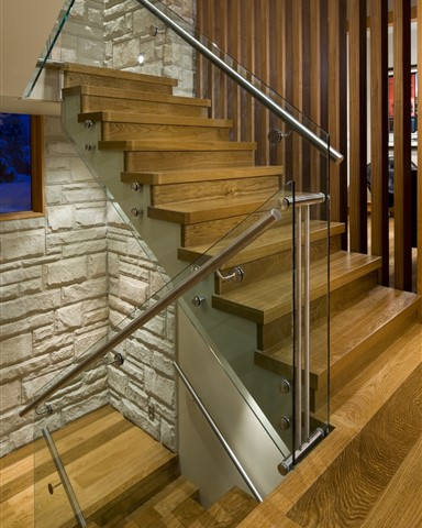 Hakwood Bespoke flooring at staircase