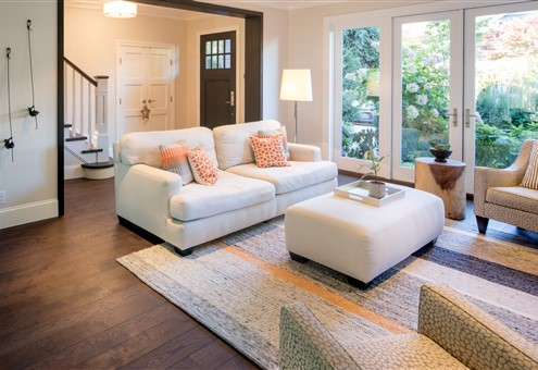 Living room contains Hakwood Harmony flooring