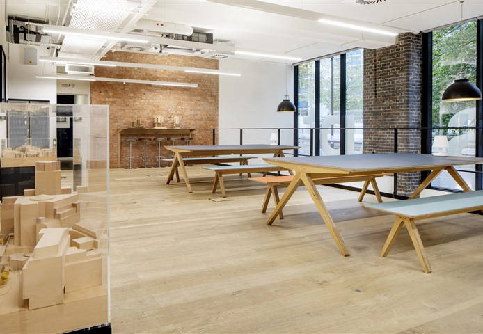 Workspace with Hakwood Muse flooring