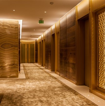 Hakwood Bespoke flooring on the walls and doors