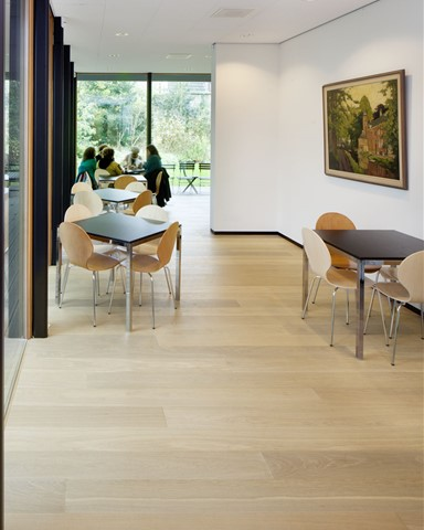 Hakwood Noble floors in the museum restaurant