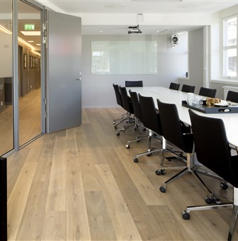 Hakwood Noble flooring in conference area