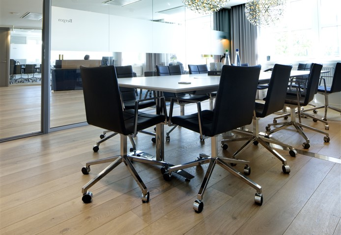 Hakwood Noble flooring in conference room